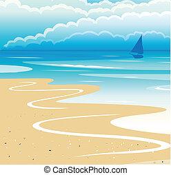 παραλία , τοπίο