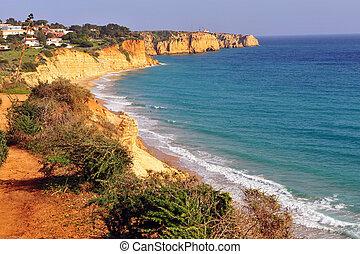 παραλία , algarve , ατλαντικός , ακτογραμμή , πορτογαλία