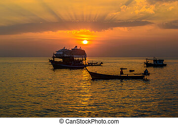 παραλία , kalim, ηλιοβασίλεμα , phuket