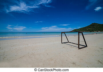 παραλία , samui απομονώνω , koh, ποδόσφαιρο , σιάμ , όμορφος