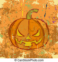 παραμονή αγίων πάντων , μικροβιοφορέας , grunge , pumpkin., εικόνα