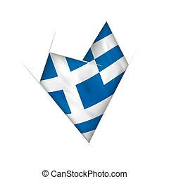 παραμορφωμένα , καρδιά , σημαία , ελλάδα , sketched