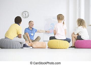 παραϊατρικά , κατά την διάρκεια , επίδειξη , μάθημα