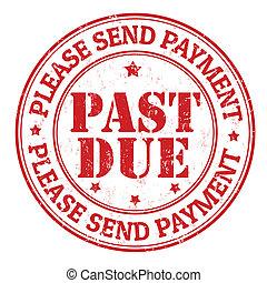 παρελθών , γραμματόσημο , οφειλόμενος