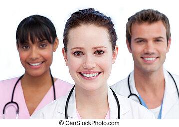 παρουσίαση , από , ένα , διάφορος , ιατρικός εργάζομαι αρμονικά με