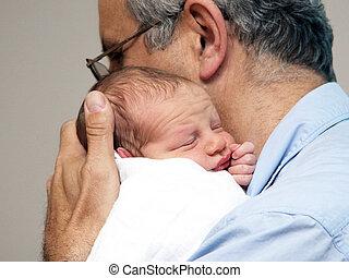 πατέραs , και , ένα , μωρό