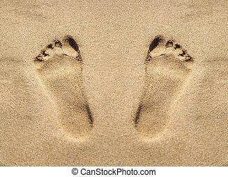 πατημασιά , άμμοs