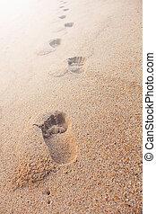 πατημασιά , ακρογιαλιά άμμος