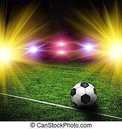 πεδίο , μπάλλα ποδοσφαίρου , πράσινο