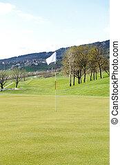 πεδίο , σημαία , γκολφ