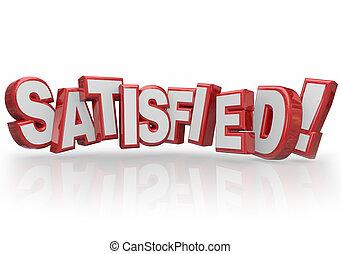 πελάτης , ανταποκρίνομαι σε , λέξη , ικανοποίησα , ικανοποίηση , γράμματα , ευτυχισμένος , 3d