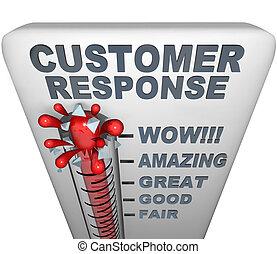 πελάτης , - , απόκριση , θερμόμετρο