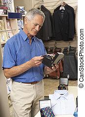 πελάτης , αρσενικό , κατάστημα ρούχων