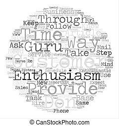 πελάτης , γενική ιδέα , λέξη , γκουρού , εδάφιο , φόντο , γίνομαι , ενθουσιασμός , σύνεφο