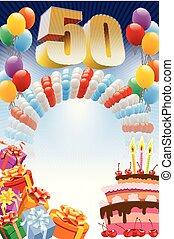 πεντήκοστος , γενέθλια , αφίσα