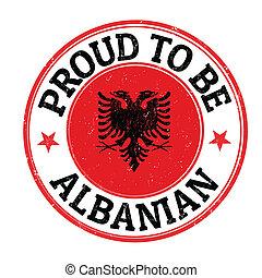 περήφανος , να , γίνομαι , αλβανός , γραμματόσημο
