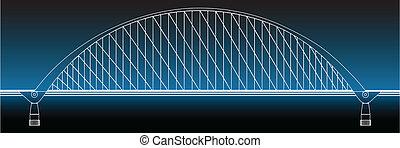 περίγραμμα , από , πολύτιμος αυλόπορτα γέφυρα