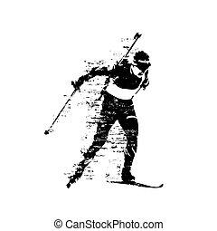 περίγραμμα , αφαιρώ , αγώνας , απομονωμένος , biathlon , vectro