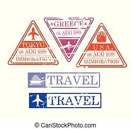 περίγραμμα , γραφικός , η π α , αποτύπωμα , ταξιδεύω , ελλάδα , τριγωνικός , ορθογώνιος , σχήμα , tokio, πλοίο , αεροπλάνο