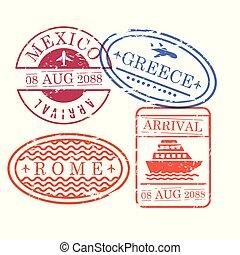 περίγραμμα , γραφικός , μεξικό , ταξιδεύω , αποτύπωμα , ορθογώνιος , σχήμα , ρώμη , ελλάδα , ωάριο , πλοίο , αεροπλάνο , εγκύκλιος