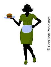 περίγραμμα , σερβιτόρα , εικόνα