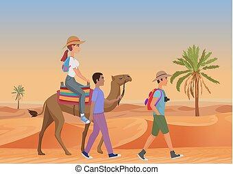 περίπατος , γυναίκα , καμήλα , εικόνα , μικροβιοφορέας , desert., ιππασία , οδηγόs , άντραs