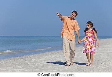 περίπατος , κόρη , πατέραs , αμπάρι ανάμιξη , παραλία