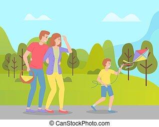 περίπατος , πάρκο , προϊόντα , weekend., αγόρι , ειδών ή πραγμάτων απόλαυση , άκατος πολεμικού πλοίου , μπαμπάς , χαρταετόs , καλαθοσφαίριση , άγω