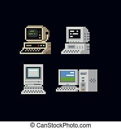 περίπτωση , μικροβιοφορέας , προσωπικός υπολογιστής , εικόνα , τελικός , κονσόλα , υπολογιστές , εικόνα , απομονωμένος , γνώση , κρασί , θέτω , retro , οθόνη , πληκτρολόγιο