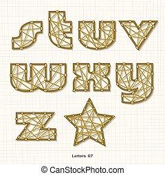 περίπτωση , χαμηλώνω , γράμματα , αλφάβητο , pattern., σχήμα , βρόχος , ανάποδος , γραμμή