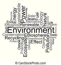 περιβάλλον , λέξη , σύνεφο