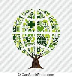 περιβάλλον , πράσινο , γενική ιδέα , δέντρο , φιλικά