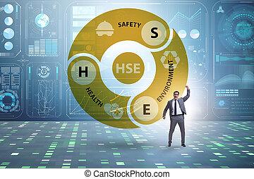 περιβάλλον , υγεία , hse, επιχειρηματίας , γενική ιδέα , ασφάλεια