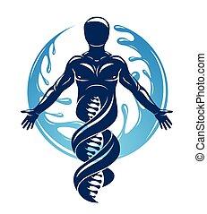 περιβάλλω , μικροβιοφορέας , ball., φύση , τεχνολογία , μοντέλο , dna , δυνατός , επιστημονικός , νερό , interaction., γραφικός , eco, εικόνα , φιλικά , δημιούργησα , αρσενικό , ανθρώπινος , τεχνολογία