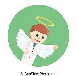 πετάω , επιχειρηματίας , κύκλοs , φόντο , άγγελος