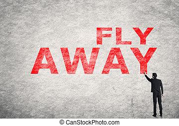 πετάω , μακριά