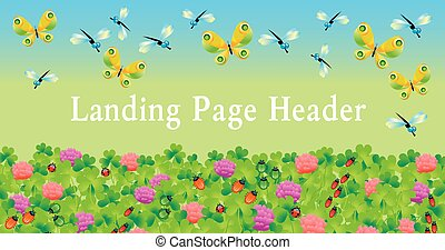 πεταλούδα , καλοκαίρι , δανεισμός , header., αρχίζω , αγίνωτος αγρωστίδες , σελίδα