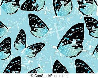πεταλούδα , πρότυπο , seamless, εικόνα , φόντο