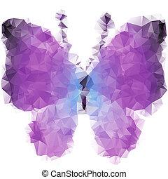 πεταλούδα , τριγωνικό σήμαντρο , βιολέττα