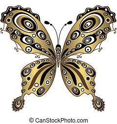 πεταλούδα , χρυσός