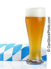 πετσέτα , βαυάρος , μπύρα , φόντο , σιτάρι , άσπρο