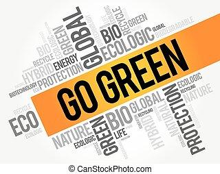 πηγαίνω , πράσινο , λέξη , σύνεφο