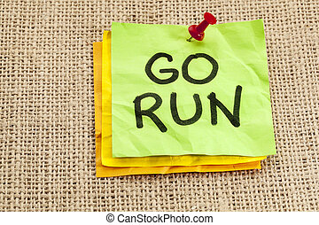 πηγαίνω , υπενθύμιση , τρέξιμο