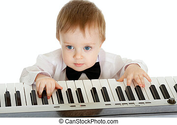 πιάνο , παιδί , λατρευτός , ηλεκτρικός , παίξιμο