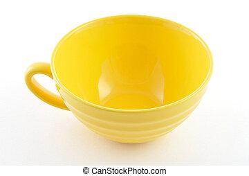 πιάτο , άσπρο , βάφω κίτρινο φόντο