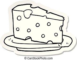 πιάτο , αυτοκόλλητη ετικέτα , γελοιογραφία , τυρί