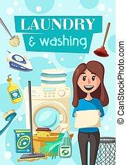 πιάτο , αφίσα , πλύση , υπηρεσία , μπουγάδα