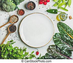 πιάτο , λαχανικά , βαφή , λαχανικά , υγιεινός , άσπρο , κέντρο