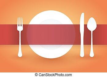 πιάτο , πάνω , τραπέζι , επιγραφή
