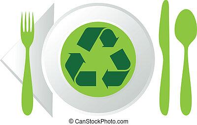πιάτο , σύμβολο , ανακύκλωση